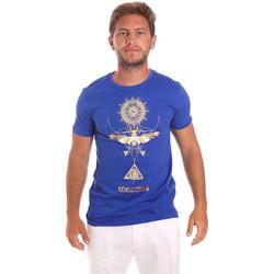 tekstylia Męskie T-shirty z krótkim rękawem Roberto Cavalli HST65B Niebieski