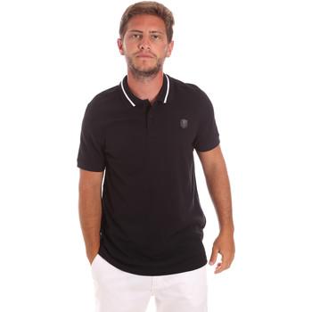 tekstylia Męskie Koszulki polo z krótkim rękawem Roberto Cavalli FST693 Czarny