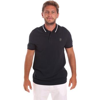 tekstylia Męskie Koszulki polo z krótkim rękawem Roberto Cavalli FST693 Niebieski