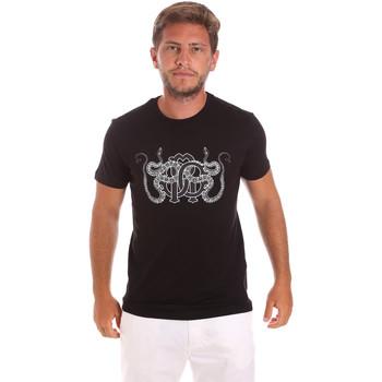 tekstylia Męskie T-shirty z krótkim rękawem Roberto Cavalli HST66B Czarny