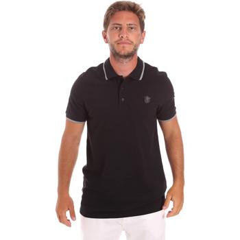 tekstylia Męskie Koszulki polo z krótkim rękawem Roberto Cavalli FST697 Czarny