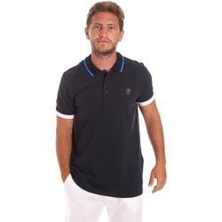 tekstylia Męskie Koszulki polo z krótkim rękawem Roberto Cavalli FST692 Niebieski