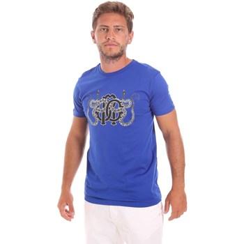 tekstylia Męskie T-shirty z krótkim rękawem Roberto Cavalli HST66B Niebieski