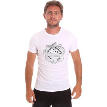 tekstylia Męskie T-shirty z krótkim rękawem Roberto Cavalli HST64B Biały