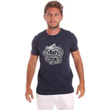 tekstylia Męskie T-shirty z krótkim rękawem Roberto Cavalli HST64B Niebieski