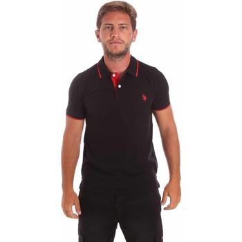 tekstylia Męskie Koszulki polo z krótkim rękawem U.S Polo Assn. 51139 49785 Czarny