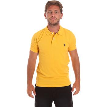 tekstylia Męskie Koszulki polo z krótkim rękawem U.S Polo Assn. 51007 49785 Żółty