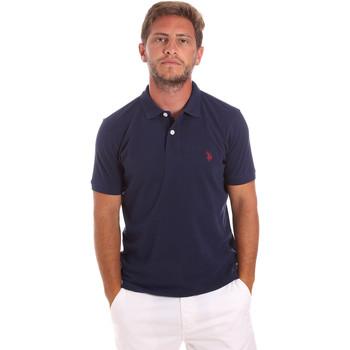 tekstylia Męskie Koszulki polo z krótkim rękawem U.S Polo Assn. 51007 49785 Niebieski