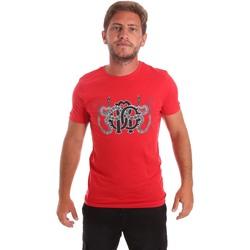 tekstylia Męskie T-shirty z krótkim rękawem Roberto Cavalli HST66B Czerwony