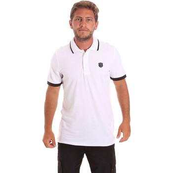 tekstylia Męskie Koszulki polo z krótkim rękawem Roberto Cavalli FST692 Biały