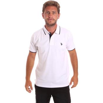 tekstylia Męskie Koszulki polo z krótkim rękawem U.S Polo Assn. 51139 49785 Biały
