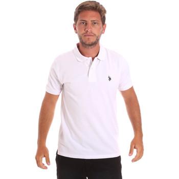 tekstylia Męskie Koszulki polo z krótkim rękawem U.S Polo Assn. 51007 49785 Biały