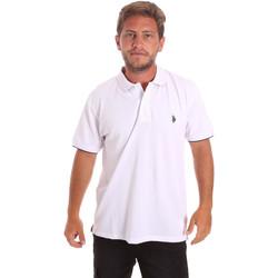 tekstylia Męskie Koszulki polo z krótkim rękawem U.S Polo Assn. 51140 41029 Biały