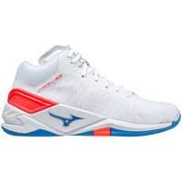 Buty Buty halowe Mizuno Chaussures  Wave Stealth Neo Mid blanc/rouge/bleu