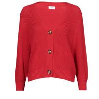 tekstylia Damskie Swetry rozpinane / Kardigany Betty London POUPEE Czerwony