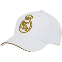 Dodatki Męskie Czapki z daszkiem Real Madrid RM3GO19 WHITE Blanco
