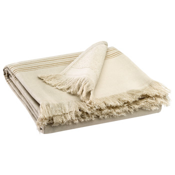 Dom Ręcznik i rękawica kąpielowa Vivaraise CANCUN Couleur / Len