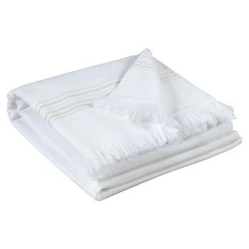 Dom Ręcznik i rękawica kąpielowa Vivaraise CANCUN Biały