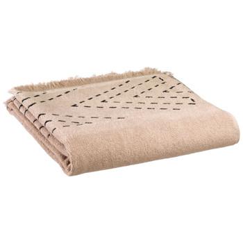 Dom Ręcznik i rękawica kąpielowa Vivaraise JULIA Beż