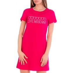 tekstylia Damskie Sukienki krótkie Love Moschino W592915M3876 Różowy