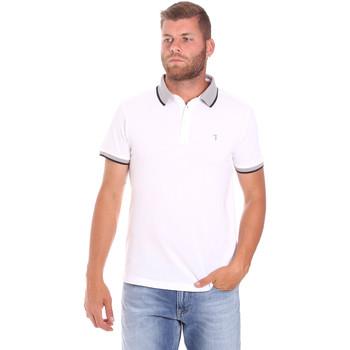 tekstylia Męskie Koszulki polo z krótkim rękawem Trussardi 52T00491-1T003600 Biały