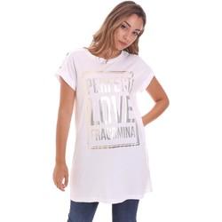 tekstylia Damskie T-shirty z krótkim rękawem Fracomina FR21ST3012J40615 Biały