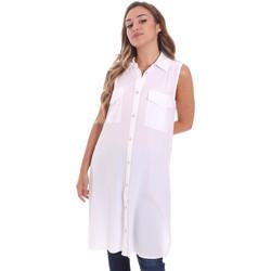 tekstylia Damskie Koszule Fracomina FR21ST1017W42801 Biały