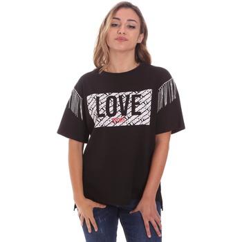tekstylia Damskie T-shirty z krótkim rękawem Fracomina FT21ST3003J400N5 Czarny