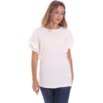 tekstylia Damskie T-shirty z krótkim rękawem Fracomina FS21ST3012J400N5 Biały