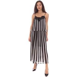 tekstylia Damskie Sukienki długie Gaudi 111BD15007 Czarny