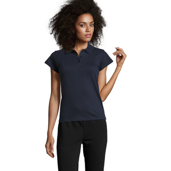 tekstylia Damskie Koszulki polo z krótkim rękawem Sols PRESCOTT POLO MUJER Azul