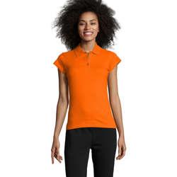 tekstylia Damskie Koszulki polo z krótkim rękawem Sols PRESCOTT POLO MUJER Naranja