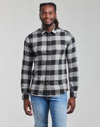 tekstylia Męskie Koszule z długim rękawem Only & Sons  ONSGUDMUND Czarny / Biały