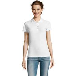 tekstylia Damskie Koszulki polo z krótkim rękawem Sols PEOPLE POLO MUJER Blanco