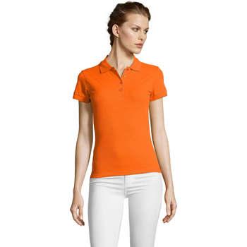 tekstylia Damskie Koszulki polo z krótkim rękawem Sols PEOPLE POLO MUJER Naranja