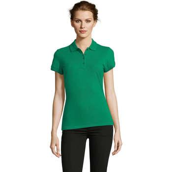 tekstylia Damskie Koszulki polo z krótkim rękawem Sols PEOPLE POLO MUJER Verde
