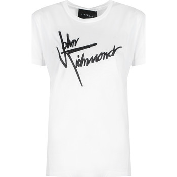 tekstylia Damskie T-shirty z krótkim rękawem John Richmond  Biały