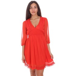 tekstylia Damskie Sukienki krótkie Fracomina FR21SD1007W42301 Czerwony