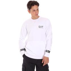 tekstylia Męskie Bluzy Ea7 Emporio Armani 3KPM22 PJ05Z Biały