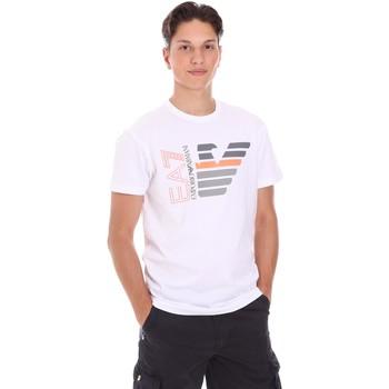 tekstylia Męskie T-shirty z krótkim rękawem Ea7 Emporio Armani 3KPT22 PJ6EZ Biały