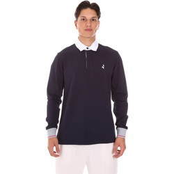 tekstylia Męskie Koszulki polo z długim rękawem Navigare NV32024 Niebieski
