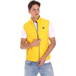 tekstylia Męskie Swetry rozpinane / Kardigany Ciesse Piumini 215CFMV11394 N021D0 Żółty