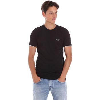 tekstylia Męskie T-shirty z krótkim rękawem Key Up 2S420 0001 Czarny
