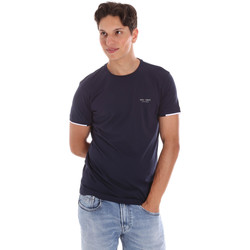 tekstylia Męskie T-shirty z krótkim rękawem Key Up 2S420 0001 Niebieski