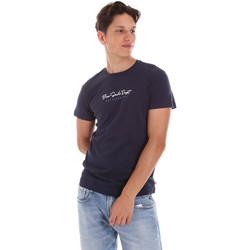 tekstylia Męskie T-shirty z krótkim rękawem Key Up 2S438 0001 Niebieski