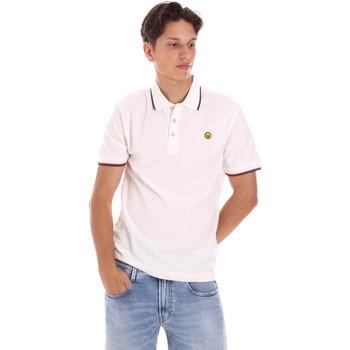 tekstylia Męskie Koszulki polo z krótkim rękawem Ciesse Piumini 215CPMT21423 C2510X Biały