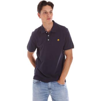 tekstylia Męskie Koszulki polo z krótkim rękawem Ciesse Piumini 215CPMT21424 C0530X Niebieski