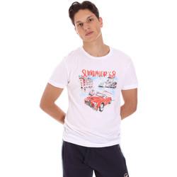 tekstylia Męskie T-shirty z krótkim rękawem Key Up 2S427 0001 Biały