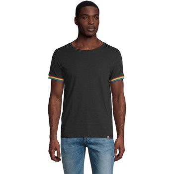 tekstylia Męskie T-shirty z krótkim rękawem Sols CAMISETA MANGA CORTA RAINBOW Negro
