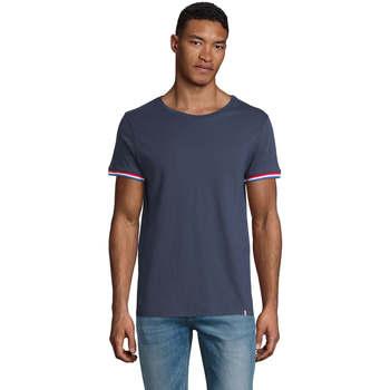 tekstylia Męskie T-shirty z krótkim rękawem Sols CAMISETA MANGA CORTA RAINBOW Azul